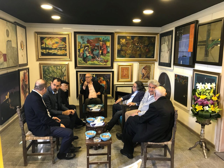 A gather include Artists Dia Azzawi, Saadi Al-kabbi, Ali TALEB, Delair Shaker, Abbas AL-AZZAWI, Maath Alousi