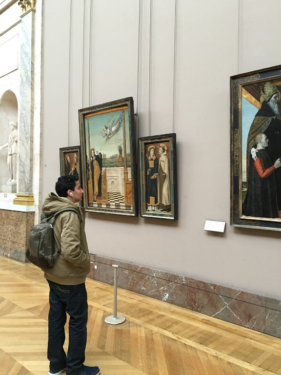 Ahmad AL-IBRAHIMY at   La louvre Paris Feb.216